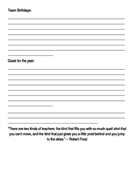 Lesson Planner 2016-2017 editable for the Secondary Teacher