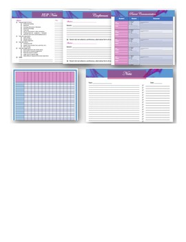 Lesson Planner 2017 - 2018 Blue and Purple Theme