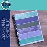 Editable Weekly Lesson Planner Teacher Planner 17-18: Teal, Aqua, Purple