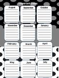 Lesson Planner-Black/White/Gray