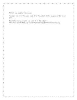 Lesson Planner Blank Template