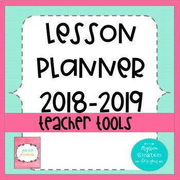 Lesson Planner Book 2018-2019