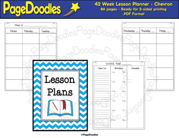 Lesson Planner, Chevron - High Quality Vector Graphics