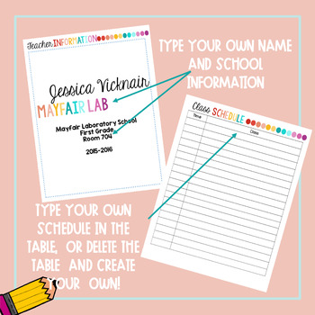 Lesson Planner - Completely Editable!!