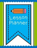 Lesson Planner Cover