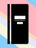 Lesson Planner Cover Page and Table of Contents PDF