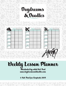 Teacher Binder Lesson Planner: Daydreams And Doodles