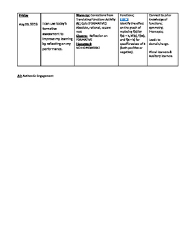 Lesson Planner/Lesson Organizer