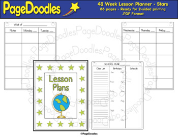 Lesson Planner, Stars - High Quality Vector Graphics