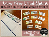 Lesson Planner Subject Heading Labels-Editable and Ready to Use