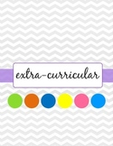 Lesson Planner Teacher Binder Dividers - Owl Theme