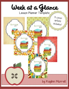Lesson Planner Template || Week at a Glance