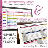 Teacher Binder EDITABLE Weekly & Year Planner BUNDLE - FREE UPDATES - Numbers
