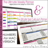 Teacher Planner Templates EDITABLE & Year Plan BUNDLE - Teacher Binder - Numbers