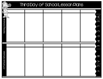 Lesson Planner (The First Five Days)