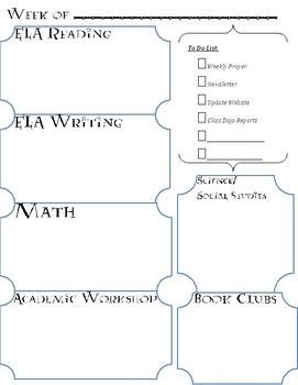 Lesson Planner and Grade Book (Harry Potter Themed)