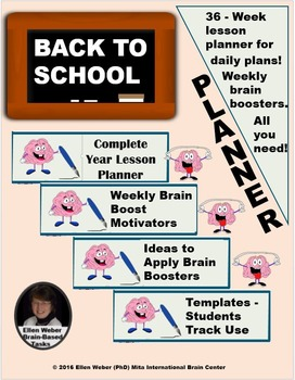 Lesson Planner with Brain Boost Motivators