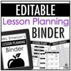Lesson Planning Binder | EDITABLE