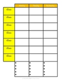 Lesson Planning Form (Bright and Cheery)