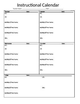 Lesson Planning Framework