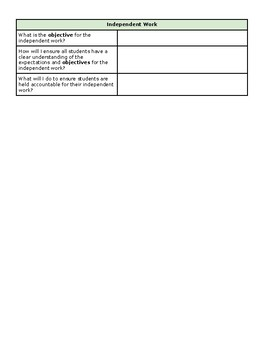 Lesson Planning Guide - New Teachers