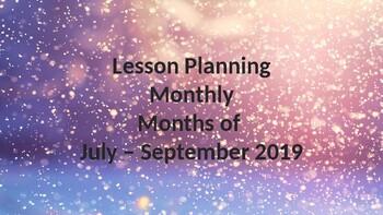 Lesson Planning July - September 2019