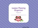 Lesson Planning Organizer
