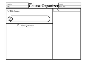 Lesson Planning Organizers