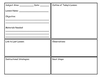 Lesson Planning Outline