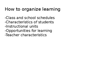 Lesson Planning Powerpoint