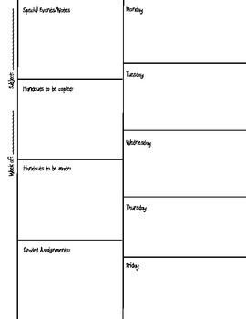 Lesson Planning Printable FREEBIE