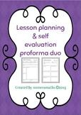 Lesson Planning & Self Evaluation Proforma duo
