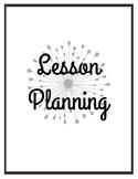 Lesson Planning Set