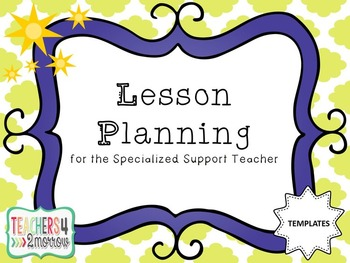 Lesson Planning TEMPLATES