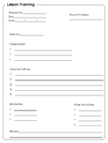 Lesson Planning Template