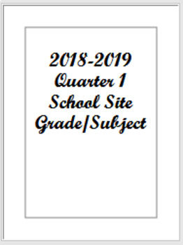 2018-2019 Editable Lesson Planning Template PPT