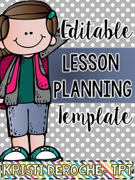 Lesson Planning Template- EDITABLE
