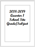 Lesson Planning Template PDF