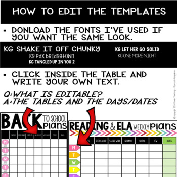 Lesson Planning Templates (Templates for ESL Lessons Included)