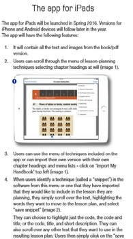Lesson Planning: The Menu. Chapter describing the app for iPads