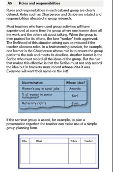 Lesson Planning: The menu Chapter A Classroom organization