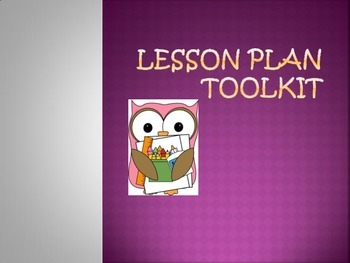 Lesson Planning Toolkit