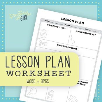 Lesson Planning Worksheet