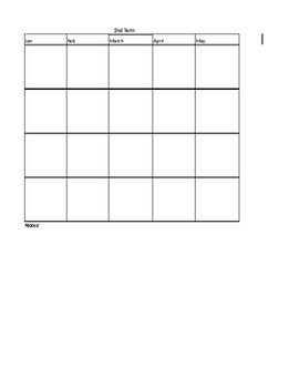 Lesson Planning Worksheet Daily, Weekly, Monthly