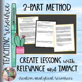 3-Part Lesson Planning for Relevance and Impact for High School English AP Lang