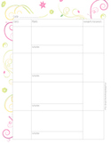 Lesson Planning with Marks/Attendance Template