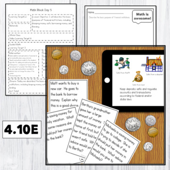 Lesson Plans Add & Subtract  Whole Numbers & Decimals 4.4A 4.2D 4.4G 4.10E 4.10B