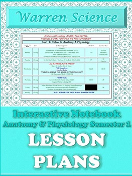 Lesson Plans: Anatomy & Physiology Fall Semester