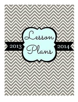 Lesson Plans Binder Cover