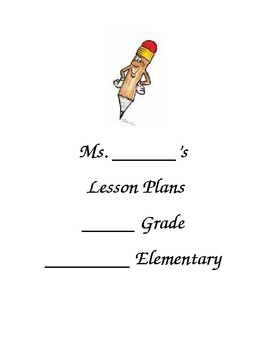 Lesson Plans Binder Cover